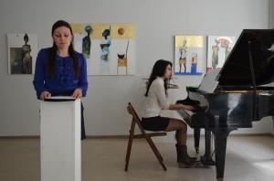 """Musikalische Lesung aus der """"Winterreise"""" in der Galerie Melnikow Heidelberg"""
